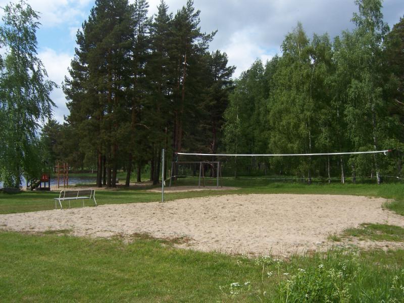 Lomakylän beach volley kenttä.