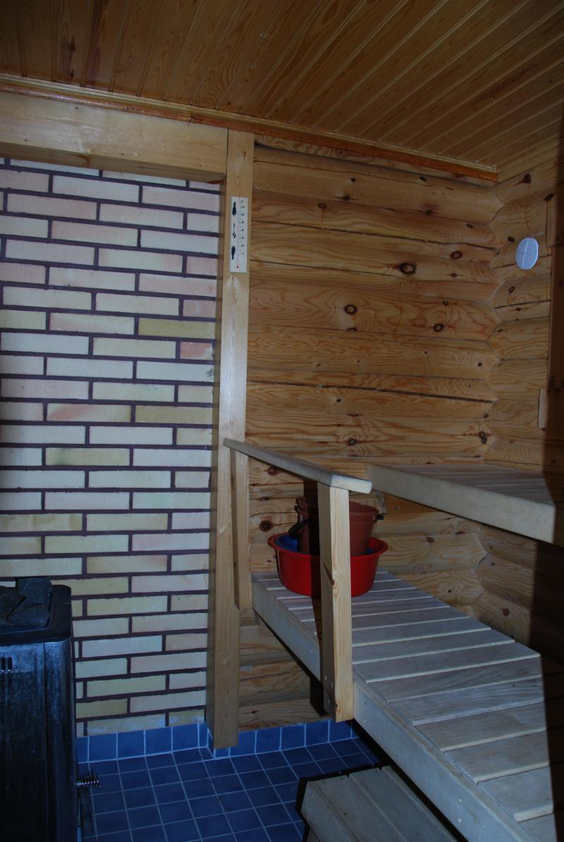 sauna in the main cottage