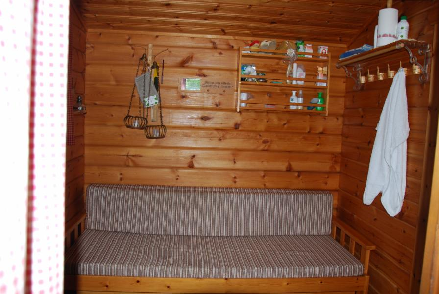 dressing room in separate sauna