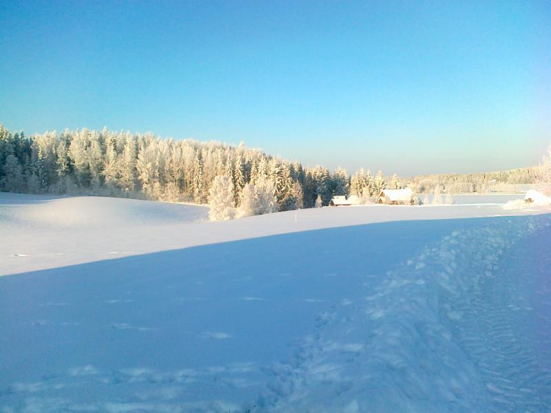 Luppo and Loimu cottages in winter