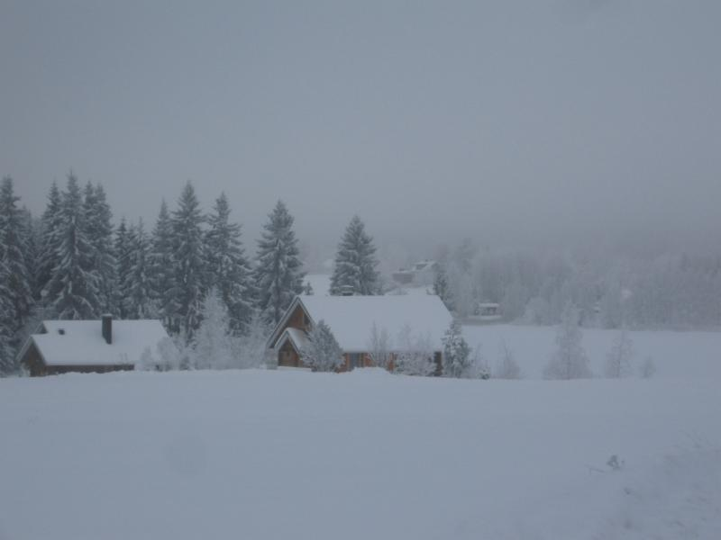 Luppo and Loimu cottages in winter.